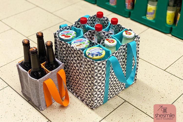Makerist - Flaschentasche TanteTrage mit 9 Fächern - Nähprojekte - 3