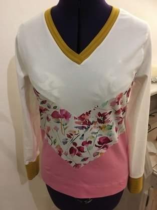 Makerist - Shirt im Color-blocking Style - 1