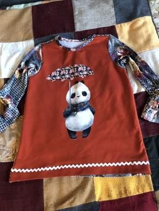 Pandashirt für meine Enkelin