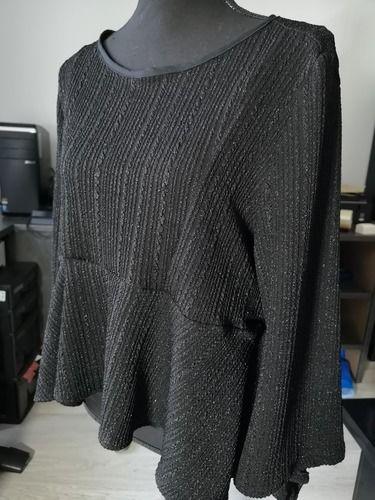 Makerist - Top Hannah en maille noir brillant - Créations de couture - 1