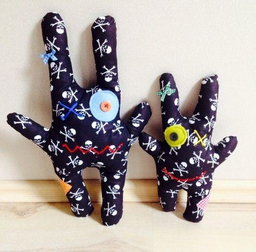 Makerist - Monsterkissen mit kleiner Tasche auf dem Po aus Baumwollstoff für Mädchen und Jungen - Nähprojekte - 3