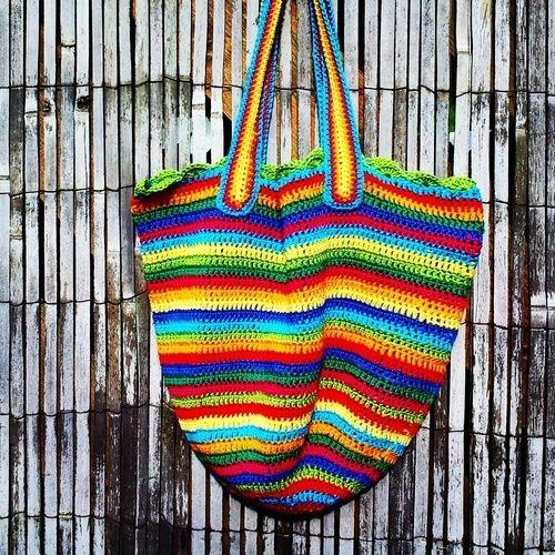 Makerist - Regenbogen-häkel-beutel - Häkelprojekte - 2