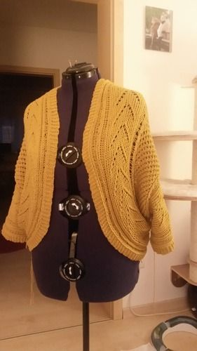 Makerist - Kreisjacke Summersnug, senfgelbe Baumwolle - Strickprojekte - 2