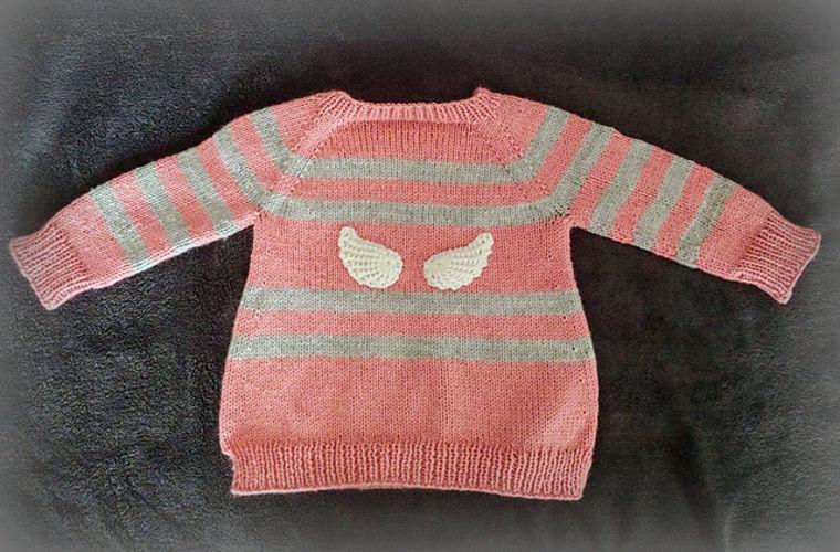 """Makerist - Pullover """"little Angel"""" - Strickprojekte - 3"""