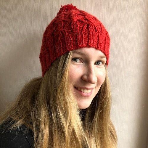Makerist - Strickmütze mit Bommel für meine Tochter Judy - Strickprojekte - 1