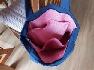 """""""Blu Bag"""" aus blauer Baumwolle"""