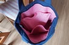 """Makerist - """"Blu Bag"""" aus blauer Baumwolle  - 1"""