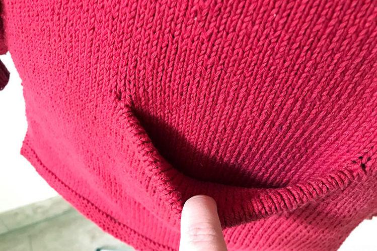 Makerist - Cardigan gestrickt aus dunkel roter Wolle - Strickprojekte - 2
