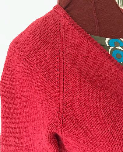Makerist - Cardigan gestrickt aus dunkel roter Wolle - Strickprojekte - 3