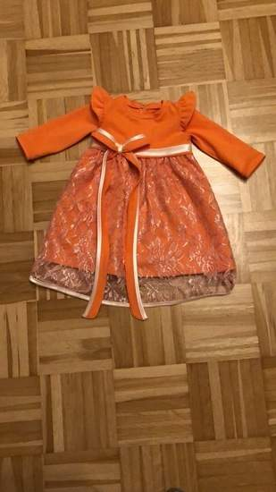 Festliches Kleid in orange-creme