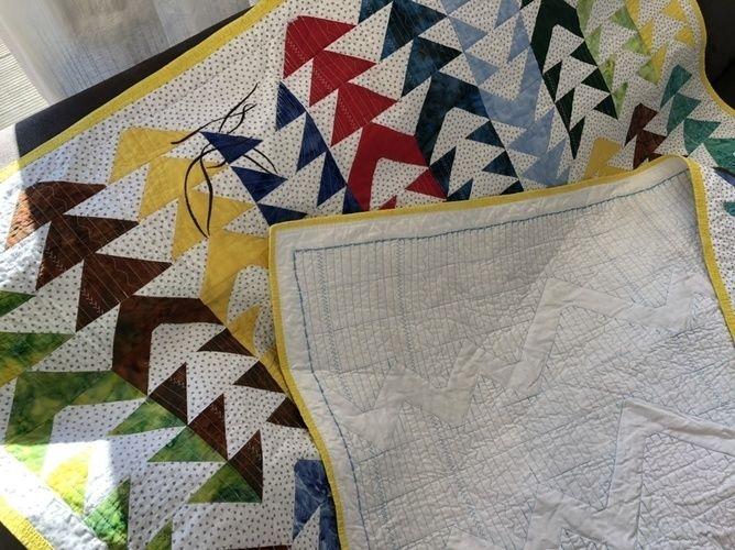 Makerist - Flying-Geese Tagesdecke für mein Sofa  - Patchwork-Projekte - 2