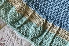 Makerist - Leaf Motif Baby Blanket  - 1