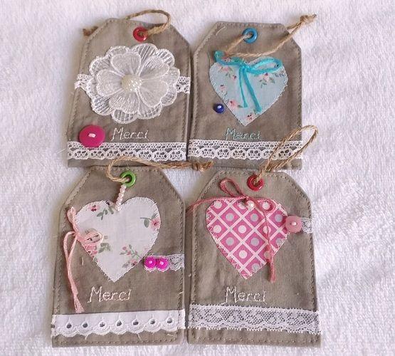Makerist - Etiquette cadeau «merci» en tissu  - Créations de couture - 1