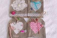 Makerist - Etiquette cadeau «merci» en tissu  - 1