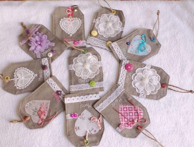 Makerist - Etiquette cadeau «merci» en tissu  - Créations de couture - 2