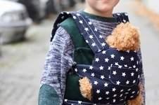Makerist - Puppentrage Feld mit Bindegurt und Fronttasche - 1