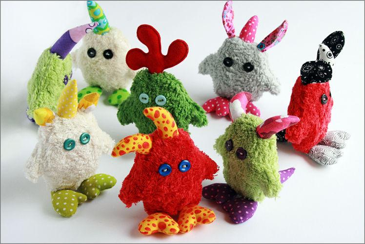 Makerist - kleine Monster Gnüphies :-) - Nähprojekte - 1