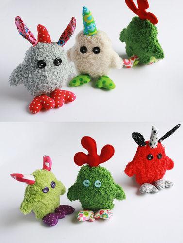 Makerist - kleine Monster Gnüphies :-) - Nähprojekte - 2