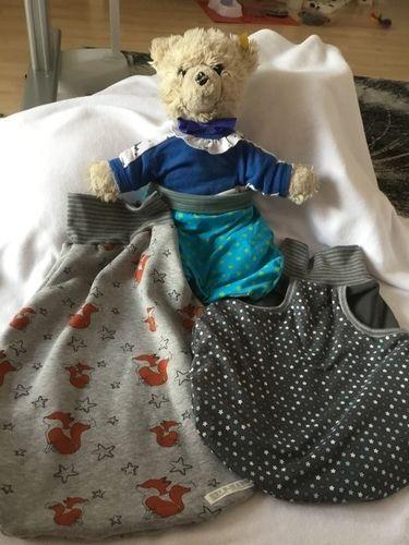 Makerist - Auch der Teddy vom Papa bekam einen Pucksack - Nähprojekte - 2
