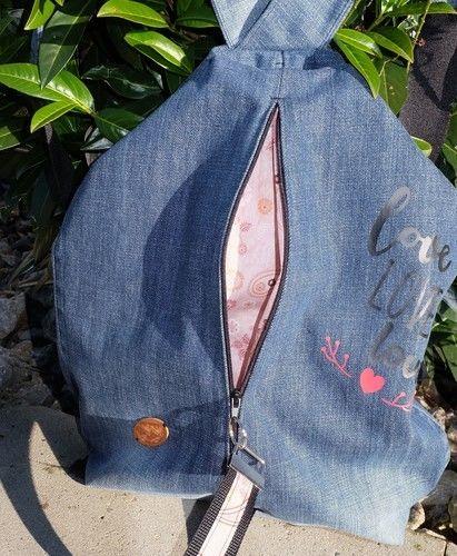 Makerist - Ein wunderbarer Rucksack/Beutel aus einer alten Jeans - Nähprojekte - 2