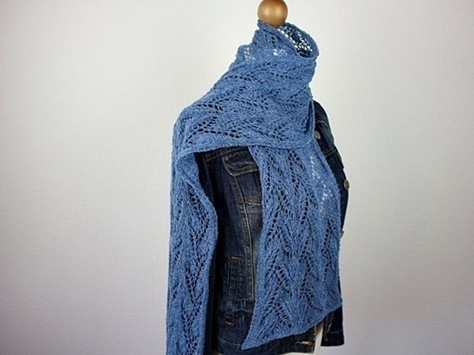 Makerist - Sapphire Scarf - Knitting Showcase - 1