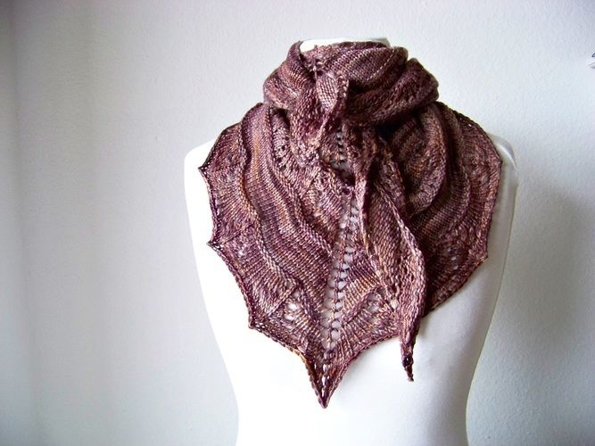 Makerist - Coffee Toffee Shawl - Knitting Showcase - 3