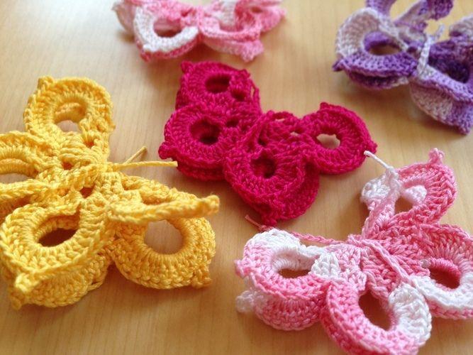 Makerist - Schmetterlinge zur Deko - Häkelprojekte - 1
