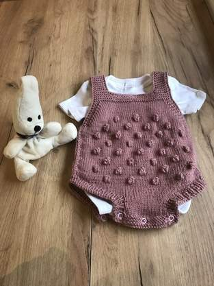 Makerist - Gestrickter Baby Strampler  - 1