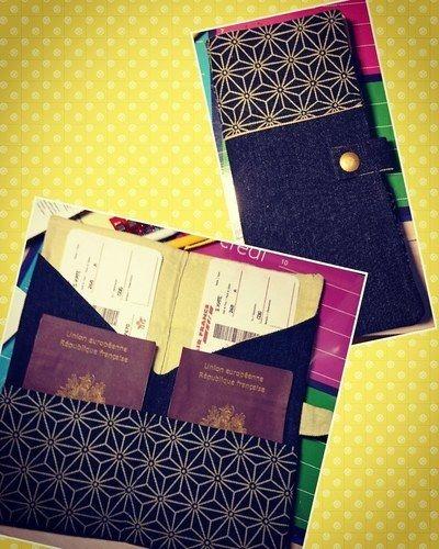 Makerist - Pochette 2 passeports COUSETTES BY-IAORANANOU - Créations de couture - 1