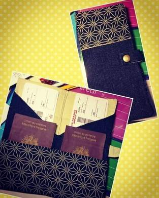 Pochette 2 passeports COUSETTES BY-IAORANANOU