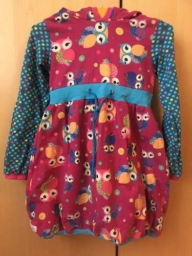 Makerist - Zipfel Kapuzen Kleid mit Eulen  - Nähprojekte - 1