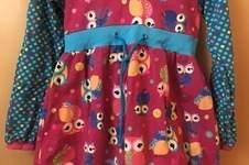Makerist - Zipfel Kapuzen Kleid mit Eulen  - 1