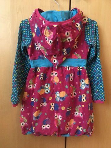 Makerist - Zipfel Kapuzen Kleid mit Eulen  - Nähprojekte - 2