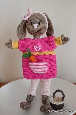 """Makerist - Handpuppe """"Fräulein Bunny"""" - 1"""