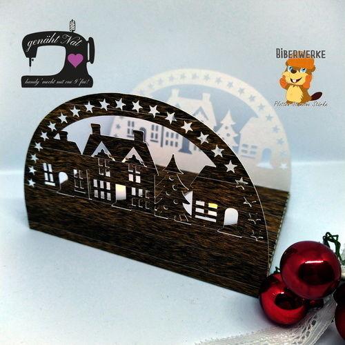 Makerist - Schwibbogen Dorf aus dem Digipapier Holzpaket von Biberwerke - DIY-Projekte - 1