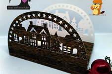 Makerist - Schwibbogen Dorf aus dem Digipapier Holzpaket von Biberwerke - 1
