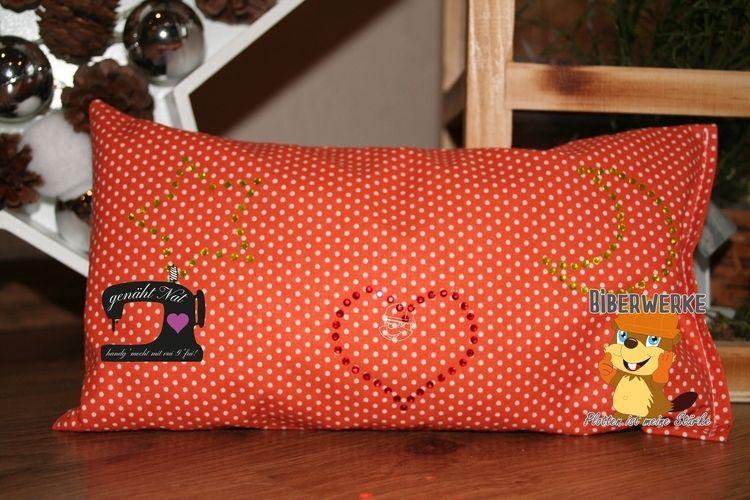 Makerist - Strass Mini Motive von Biberwerke kamen auf ein Zierkissen - Textilgestaltung - 1