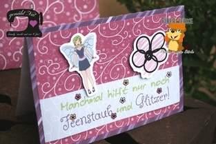 Makerist - Grußkarte mit dem Digistamps Fairy Statements und Fee Fiona von Biberwerke - 1