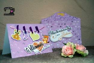 Makerist - Grußkarte Wäscheleine Baby von Biberwerke - 1