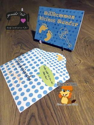 Makerist - Grußkarte Baby mit Digistamps und Digipapier Baby von Biberwerke - 1