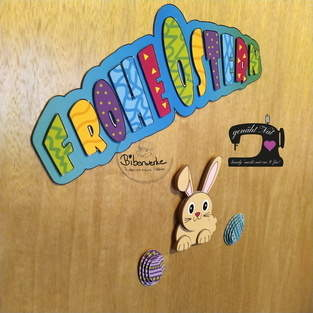 Makerist - 3D Digimotiv Osterset als Türdeko fürs Kinderzimmer - 1