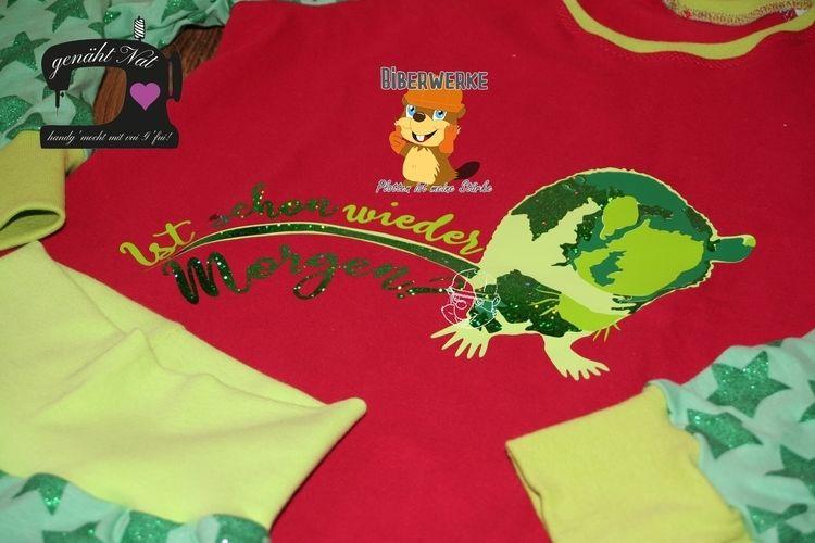 Makerist - Ist schon wieder Morgen? von Biberwerke auf einen Schlafanzug für meine Nichte - Textilgestaltung - 1