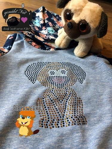 Makerist - Strass Hund von Biberwerke auf ein Pullunder für meine Tochter - Textilgestaltung - 1