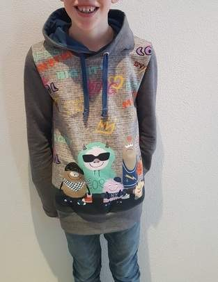 "Mix & Match Hoodie ""Coole Monster"""