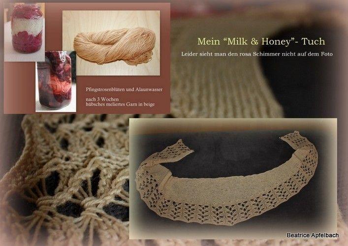 Makerist - Milk and Honey Tuch; aus solargefärbter Wolle - Strickprojekte - 2
