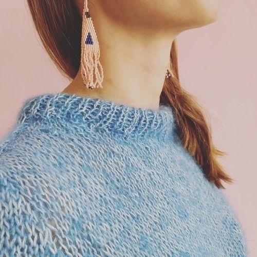 Makerist - Mohair Baumwolle Raglan von unten Pullover von SadnesGarne - Strickprojekte - 1