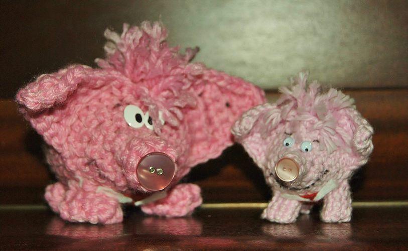 Makerist - Glückhäkelkollengenschwein in groß und klein - Häkelprojekte - 1