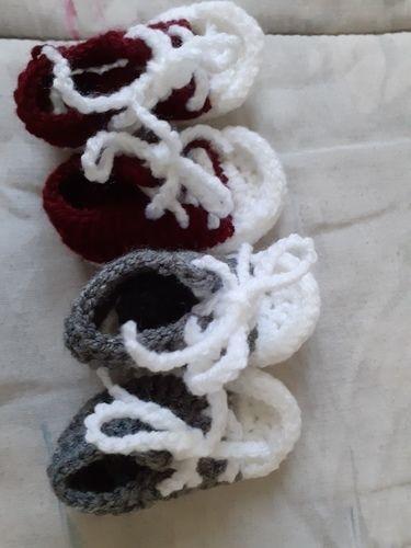 Makerist - chaussures (converses) pour bébé - Créations de tricot - 1