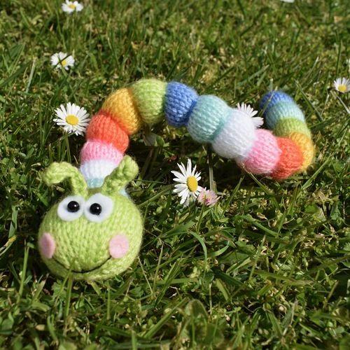 Makerist - Rainbow Caterpillar - Knitting Showcase - 1