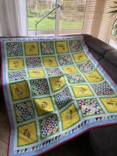 Makerist - Blumendecke 2020 für meine Mutter  - Patchwork-Projekte - 1